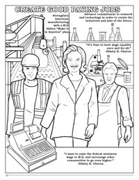 Hillary Clinton Coloring Book - Jobs