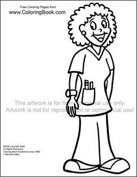 Male Nurse Appreciation Coloring Page Coloring Pages