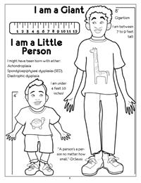 I am Giant-Little Person Coloring Page