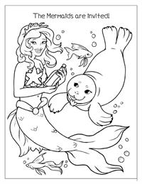 Enchanted TeaParty Coloring Book - Mermaid