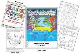 Water Conservation - Imprintable Coloring & Activity Book