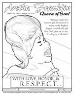 Remembering Aretha Franklin Free Coloring Page