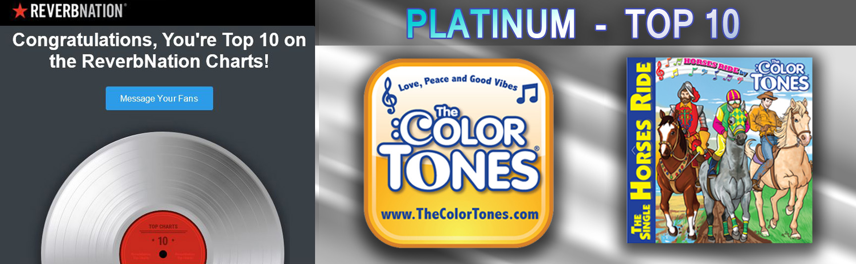 Reverbnation - Top 10 - The Color Tones - Horses Ride