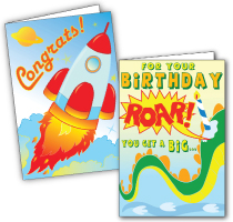 Colorable Greeting Cards (assorted sizes)