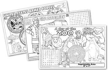 Imprintable Coloring Placemats