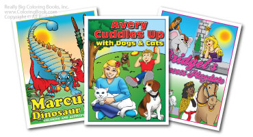imprintable coloring books personalized coloring books - Custom Coloring Book