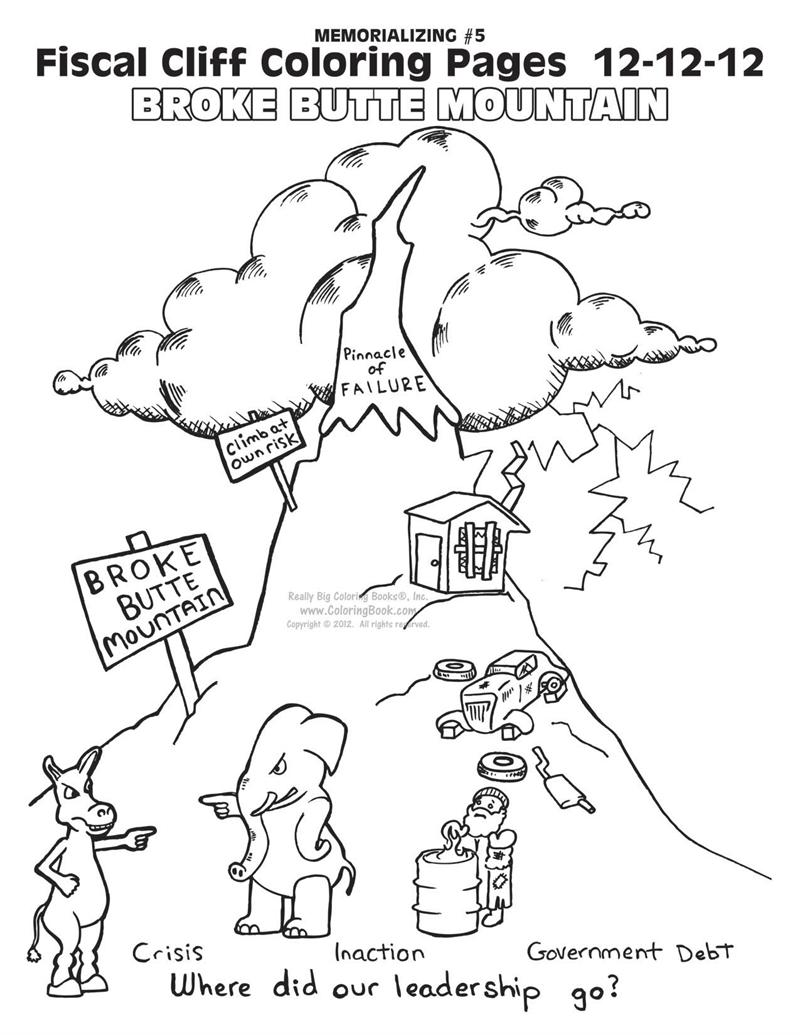 Fiscal Cliff Coloring Book Pages