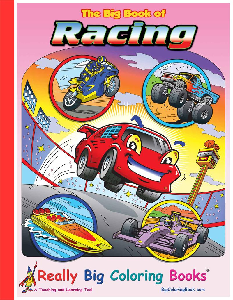 racing giant coloring book - Giant Coloring Book