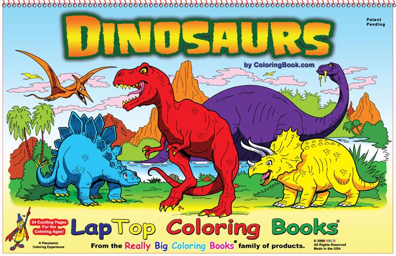 Dinosaurs LapTop Coloring Book