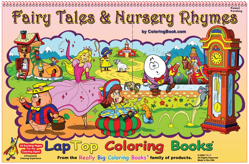 Fairy Tales Nursery Rhymes Laptop Coloring Book