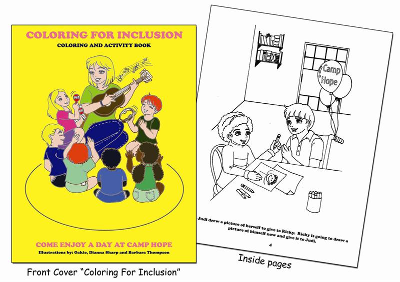 a coloring and activity book designed for children to bridge the gap that exists between young people with special needs and the world around them - Custom Coloring Books