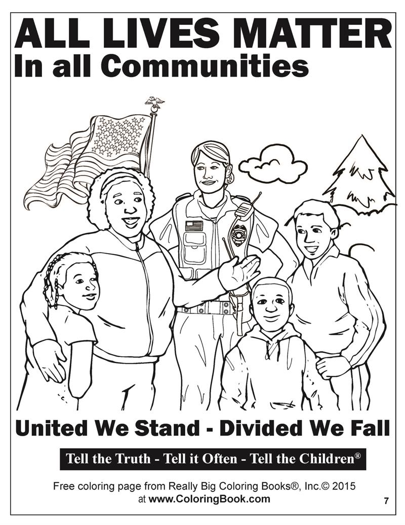 all lives matter free online coloring pages 7 - Online Coloring Book