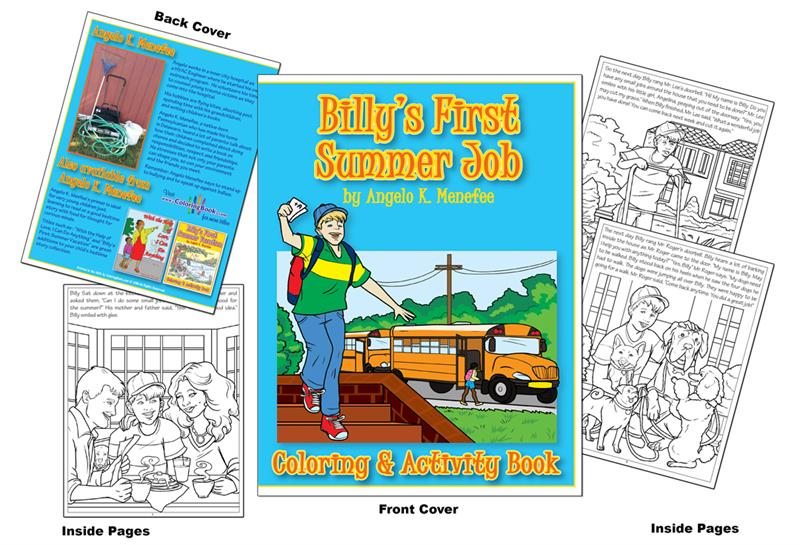 Billys First Summer Job Coloring Activity Book