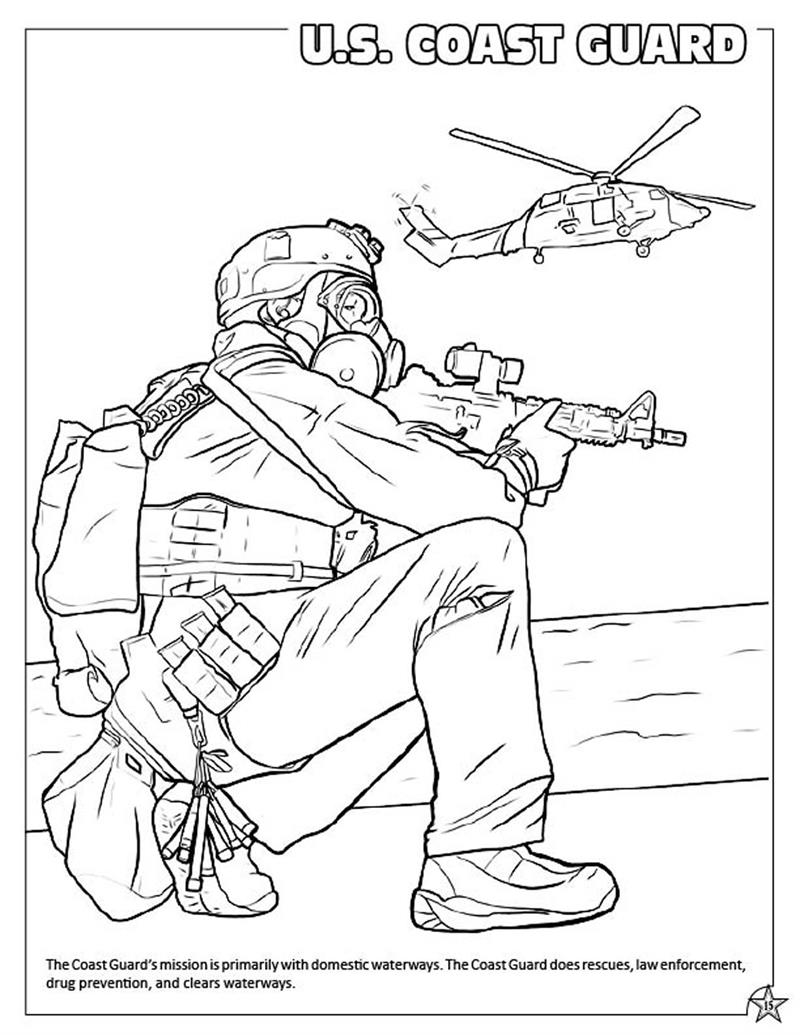 US Army Coloring Page Coast Guard