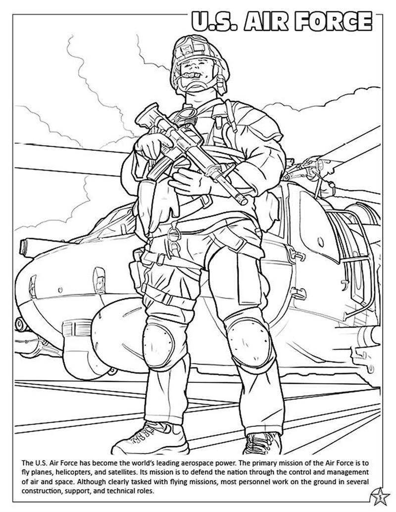Air Force Jet Coloring Page