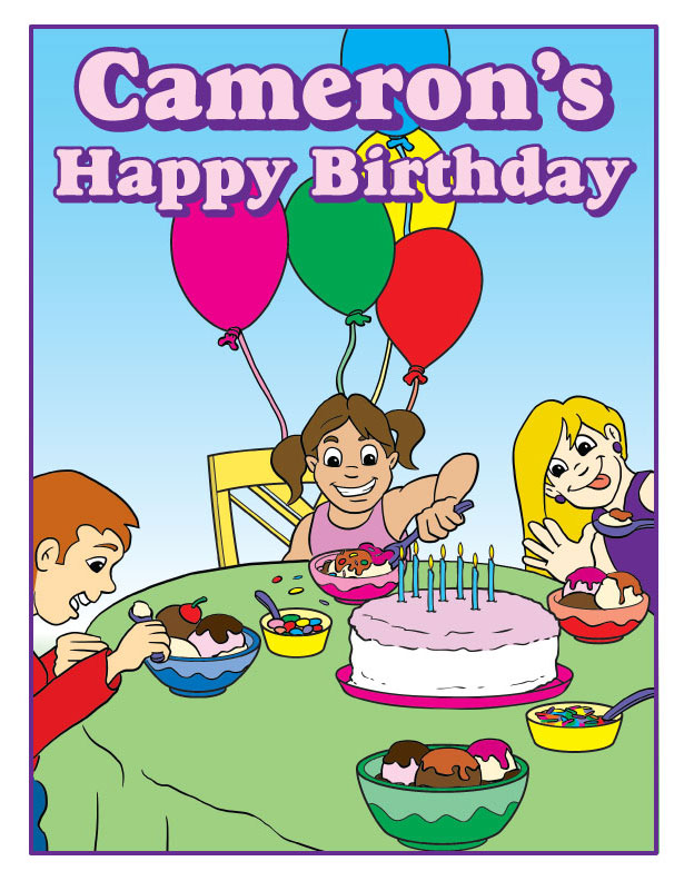 Personalized Girl Birthday Coloring Book - Coloring Books