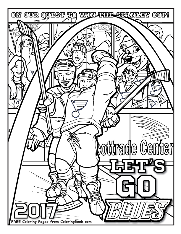 st louis blues quest for the cup free online coloring pages