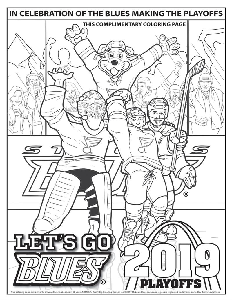 St. Louis Blues Playoffs - Free Online Coloring Page