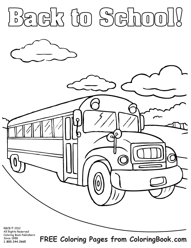 Free Online Coloring Pages Bus