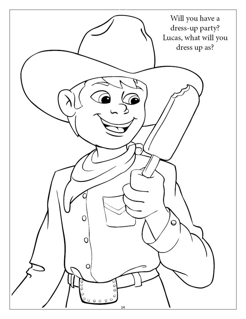 Personalized Boy Birthday Coloring Book