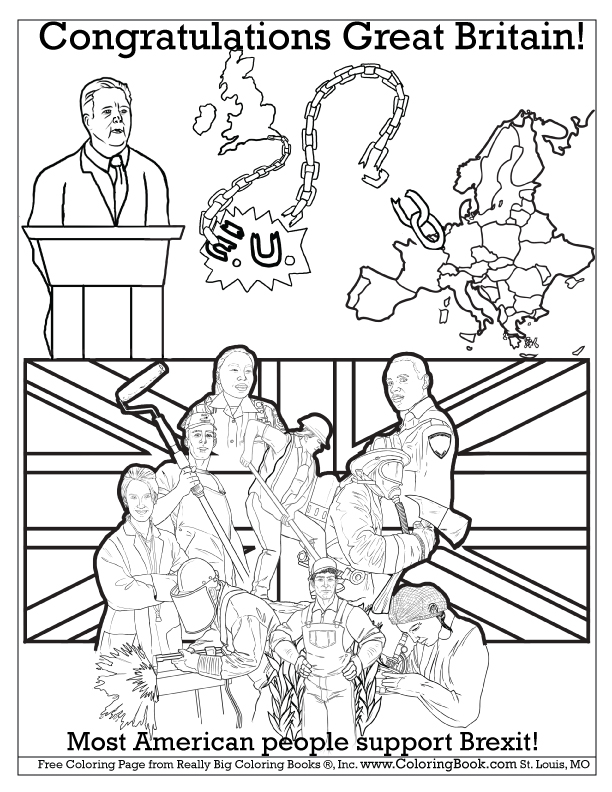 Congratulations Great Britain Free Brexit Coloring Books