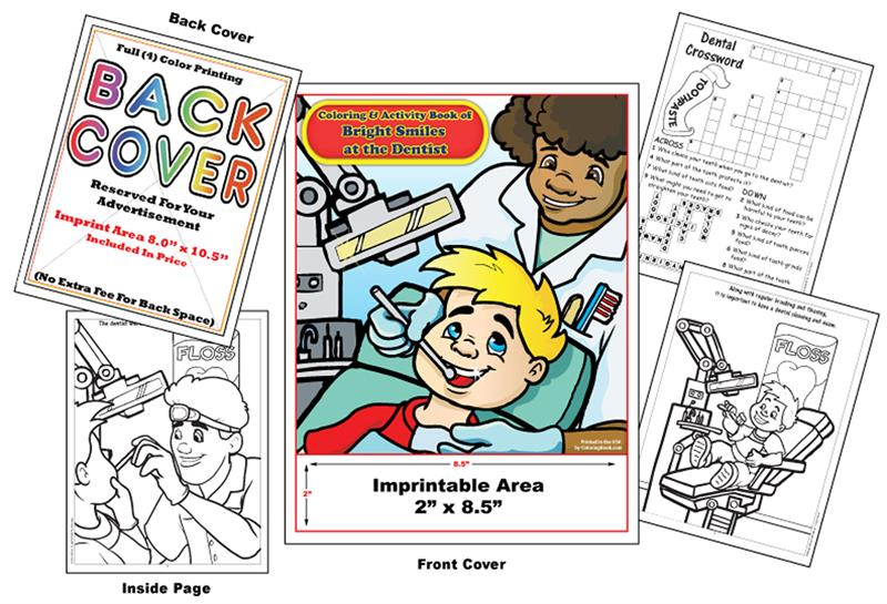 Coloring Books | Custom Imprint Promotional Coloring Books Dentist