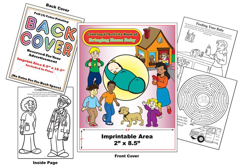 Custom Imprint Promotional Coloring Books ... - Coloring Books