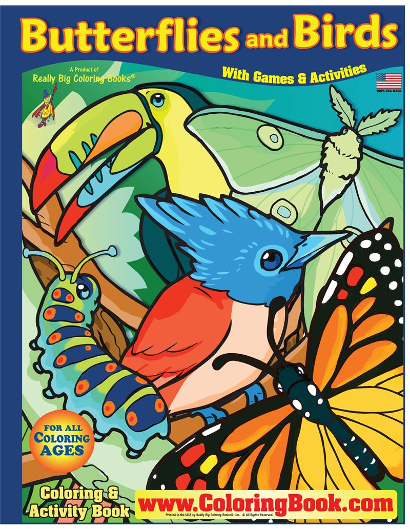 Butterflies and Birds Really Big Giant ... - Coloring Books