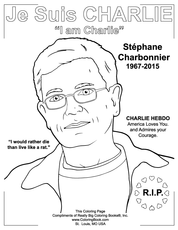 Coloring Books | Charlie Hebdo Free Online Coloring Page