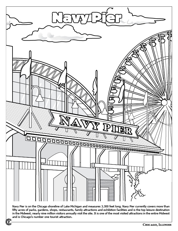 Coloring Books Chicago The Windy City Coloring Book