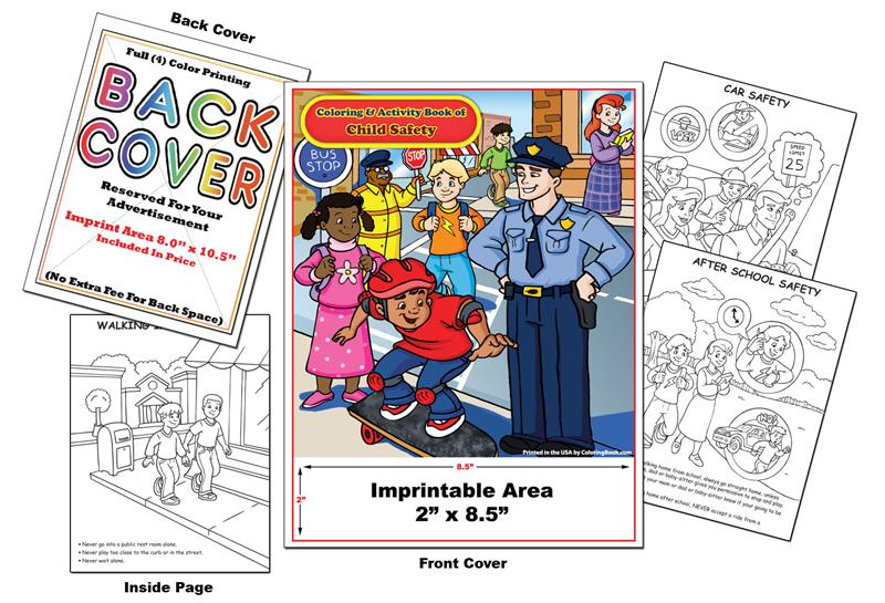 Coloring Books | Custom Imprint Promotional Coloring Books Child Safety