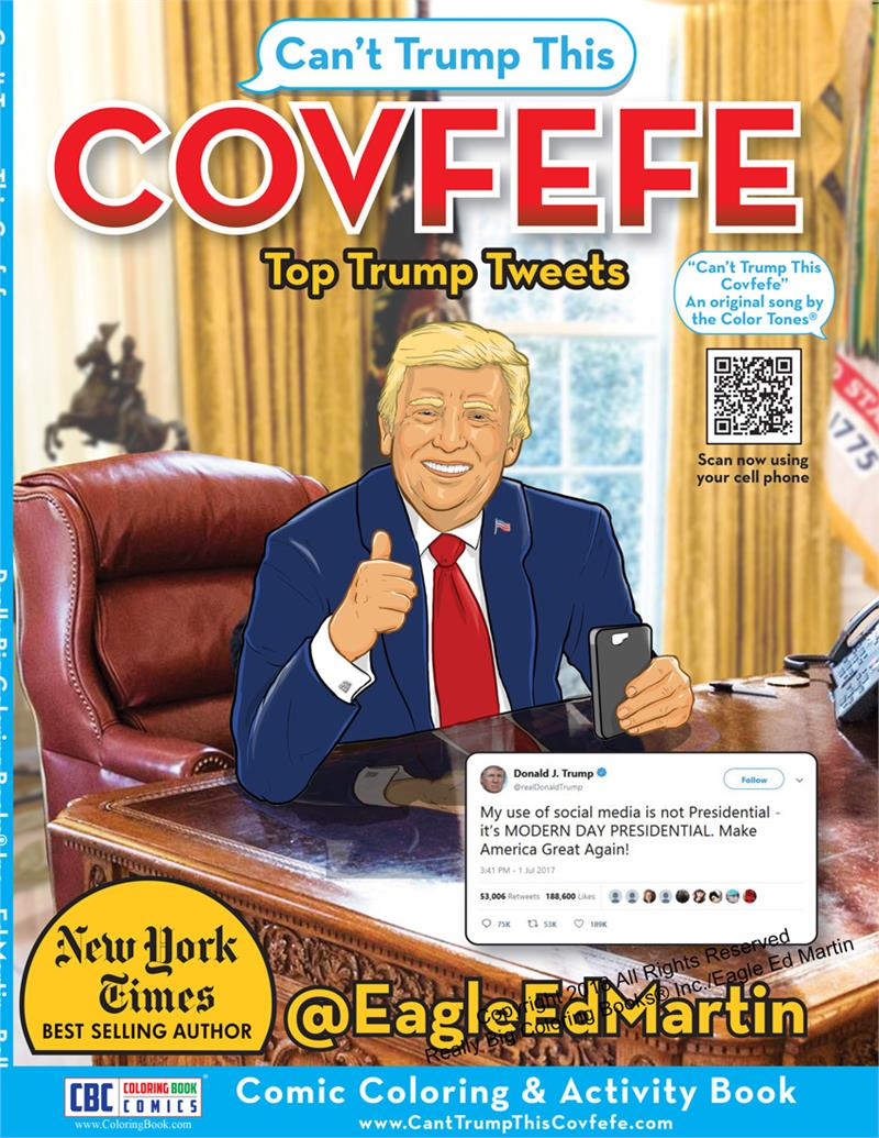 Coloring Books Covfefe Cant Trump This Comic Coloring Activity