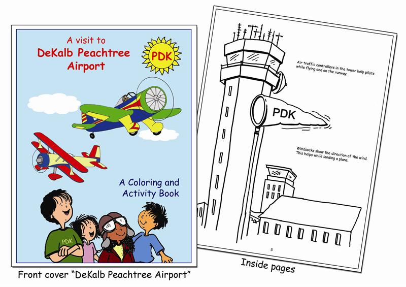 Coloring Books | DeKalb Peachtree Airport Custom Coloring Book
