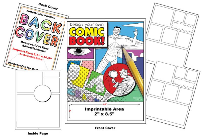 Imprint Design Your Own Comic Coloring Book - Coloring Books