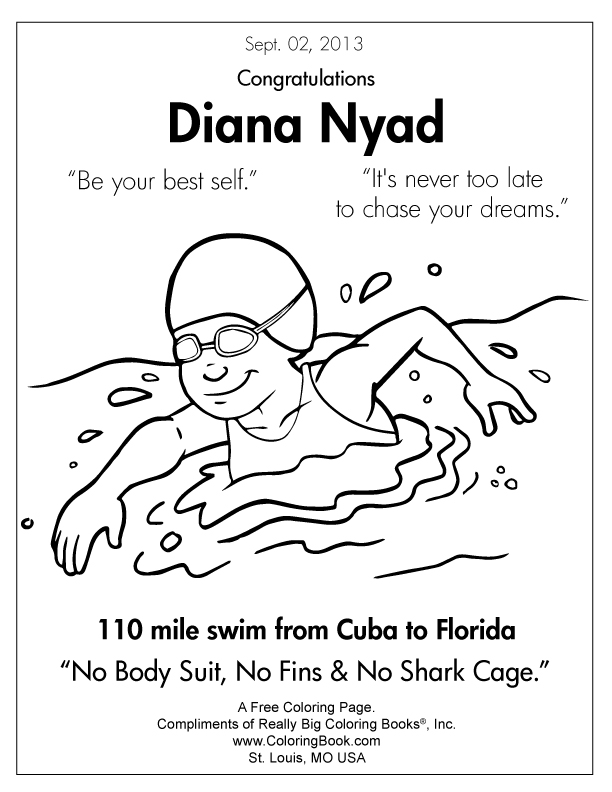 diana nyad free online coloring pages - Free Online Coloring Pages 2
