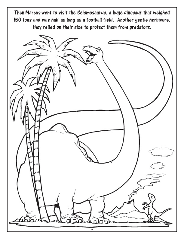 Personalized dinosaur day coloring book