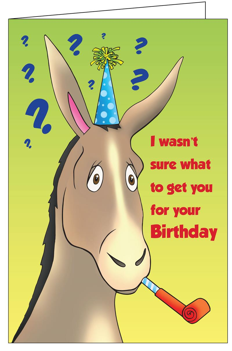 Greeting Cards Birthday Donkey Really Big Greeting Card