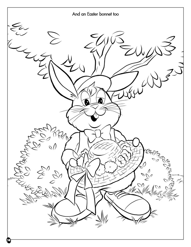 Coloring Books | Easter Cottontail Coloring Book