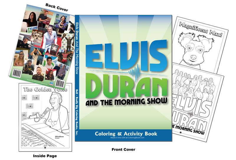 Elvis Duran And The Morning Show Custom Coloring Books