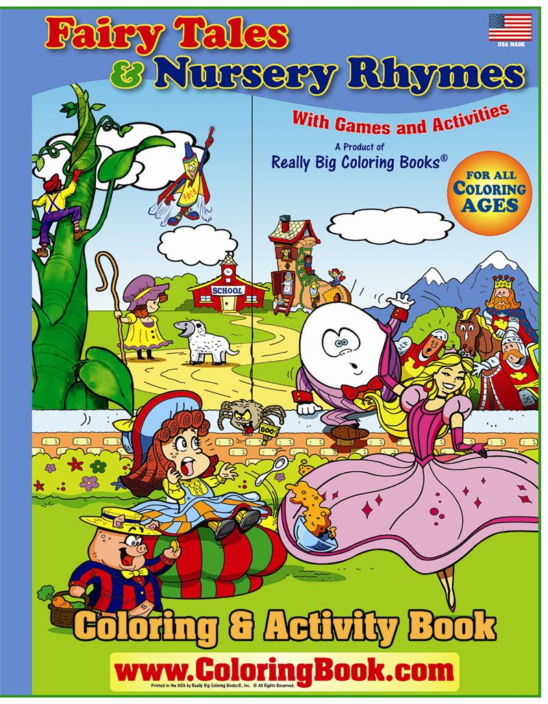 Fairy Tales And Nursery Rhymes Giant Coloring Books