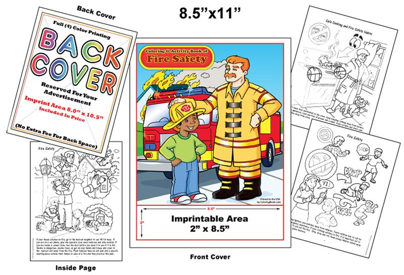 Coloring Books | Custom Imprint Promotional Coloring Books Safety