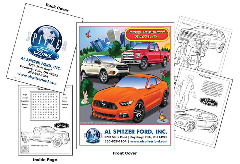 Imprint Cars Ford Coloring Book