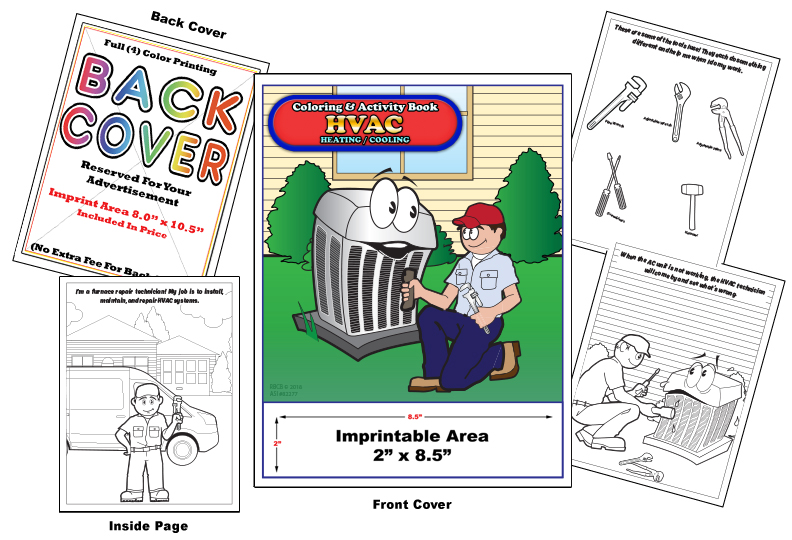 Imprint HVAC Coloring Books - Coloring Books | Hvac Drawing Book |  | Coloring Books
