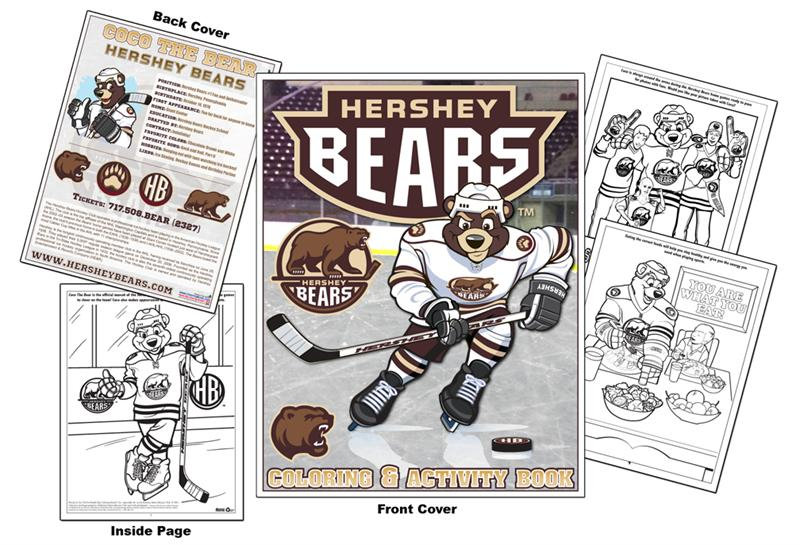 coloring books hershey bears hockey coloring book