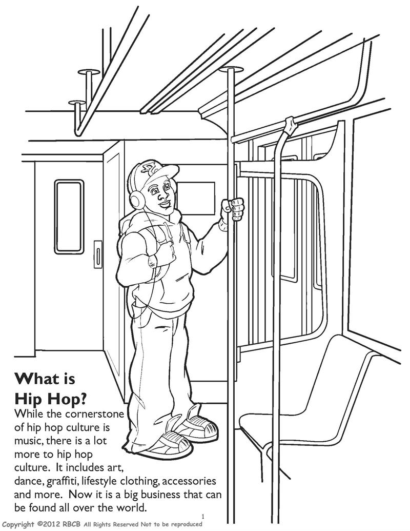 Graffiti Train Coloring Book