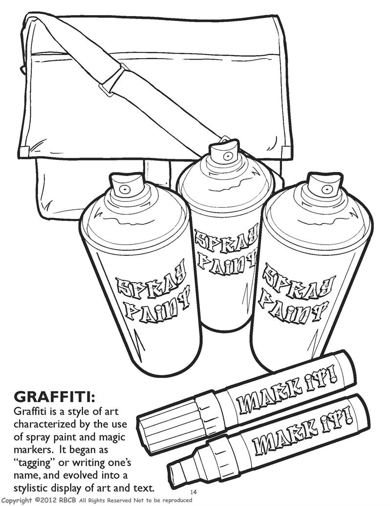 Graffiti Hip Hop Gangsta Rap Coloring Book