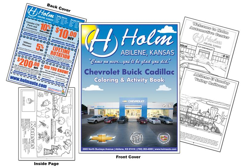 Coloring Books Holm Chevrolet Buick Cadillac - Holm chevrolet