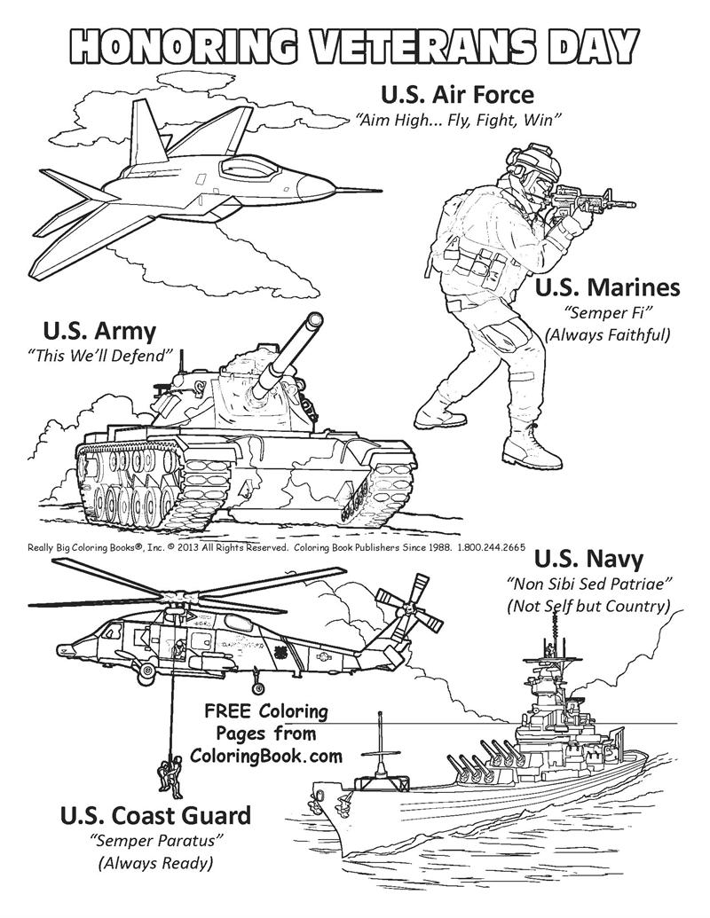 free online coloring pages veterans day