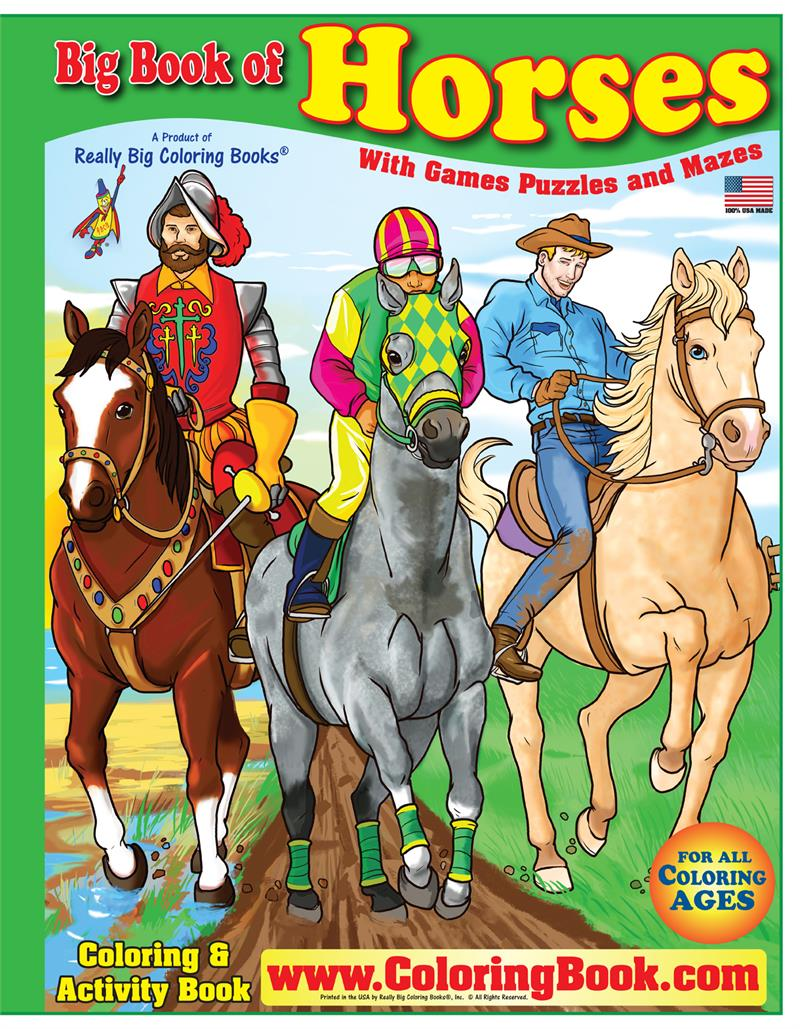 horses really big giant coloring book - Giant Coloring Book