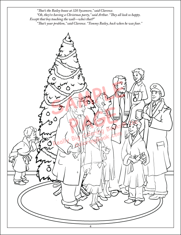 Merry Christmas Wonderful Life For Kids Coloring Book